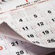 Calendar with important Chinese New Year dates