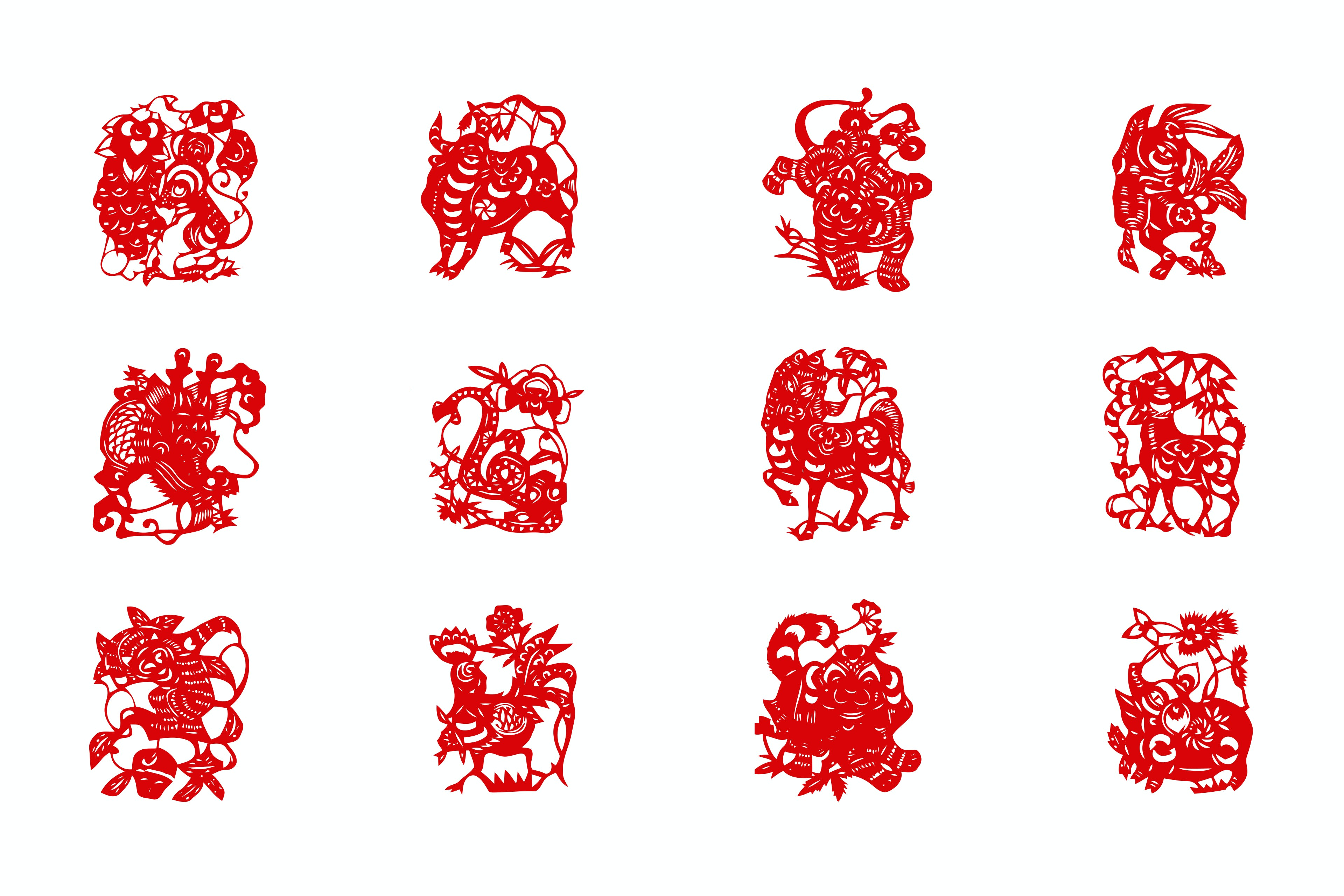 Chinese New Year zodiac animals