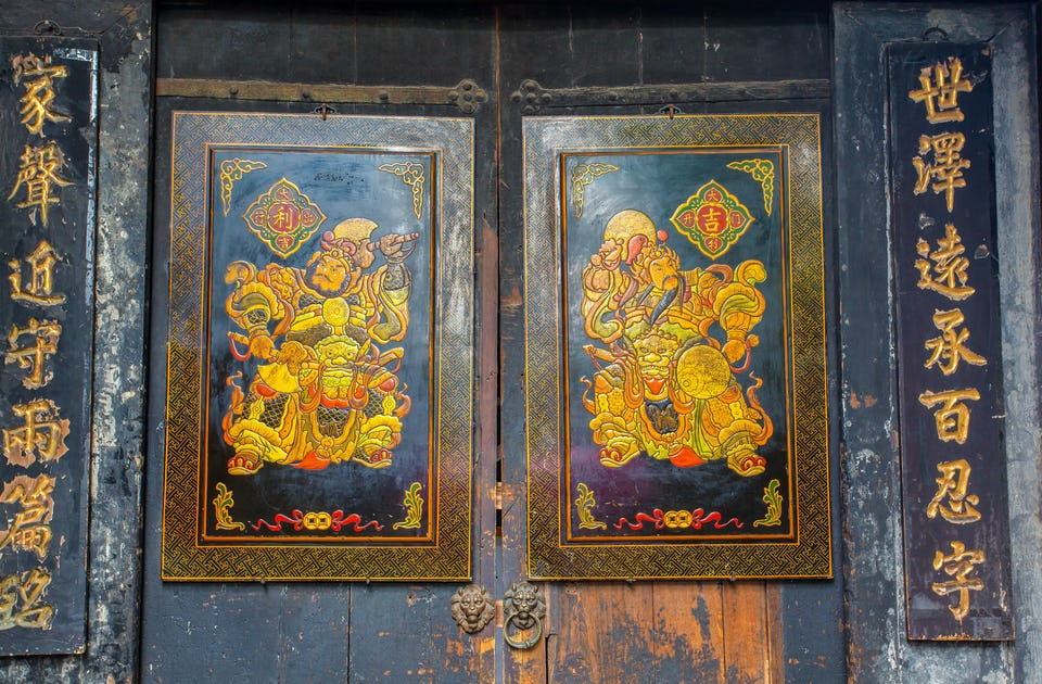 Dewa pintu dari Chengdu.