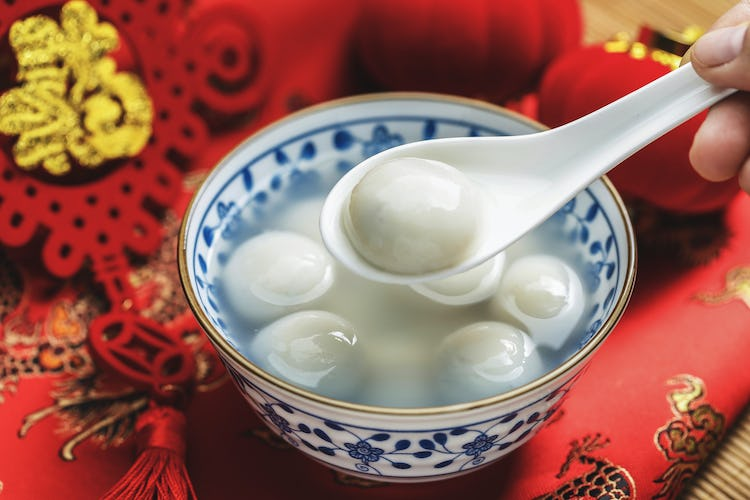 Chinese New Year tang yuan dessert
