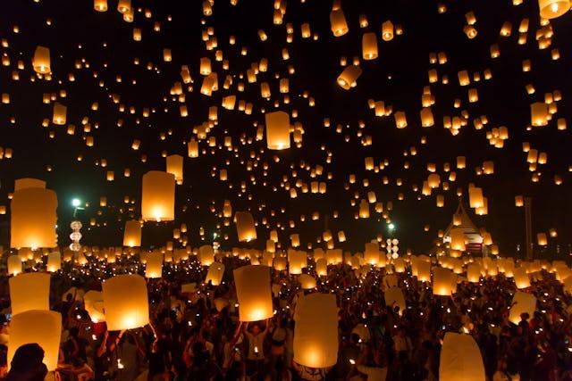 Chinese New Year lantern festival celebration