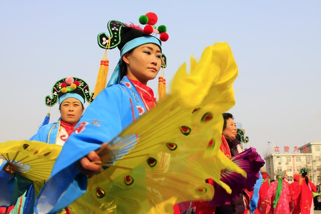Chinese New Year Lantern Festival performance in Hebei province