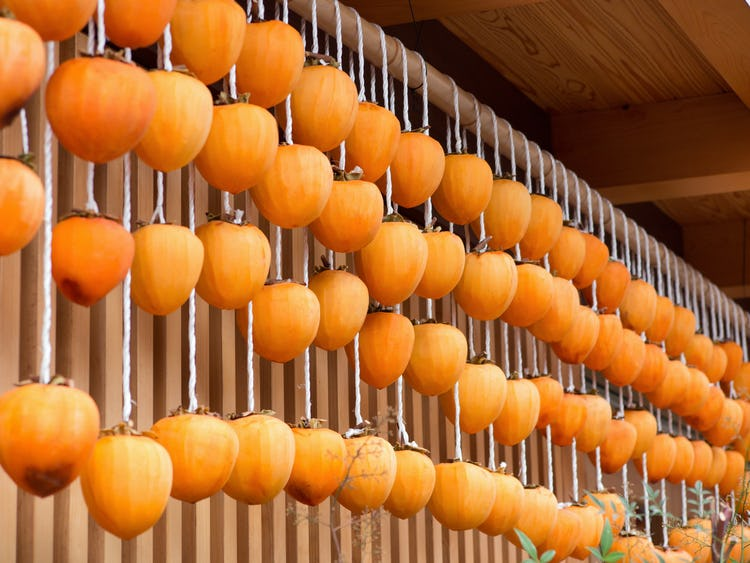 Chinese New Year drying persimmons